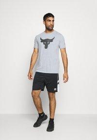 Under Armour - ROCK BRAHMA BULL - Camiseta estampada - steel light heather - 1