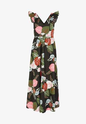 ANDREA - Maxi dress - schwarz/tropischer urlaub