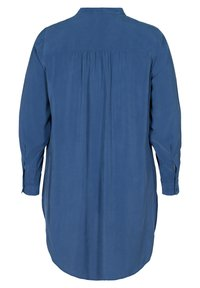 Zizzi - LONG - Button-down blouse - blue - 2