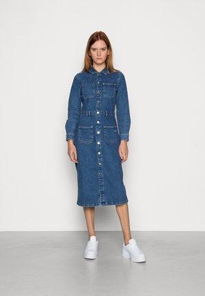 ONLBRUNA  DRESS PIM - Jurk - medium blue denim