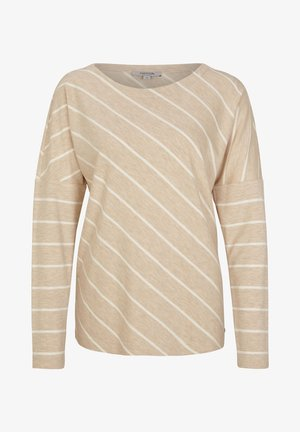 Long sleeved top - light sand stripes