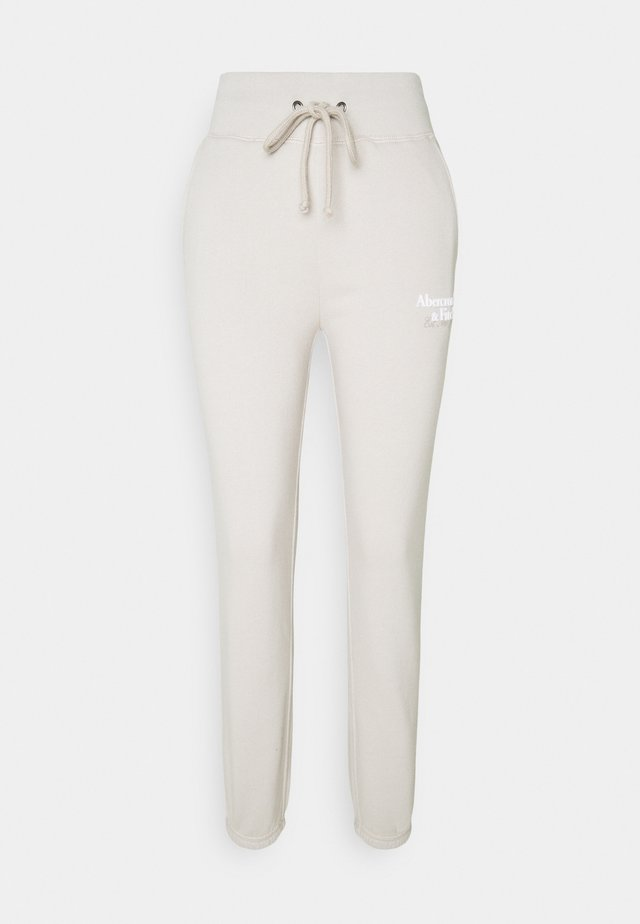 LOGO - Tracksuit bottoms - oatmeal