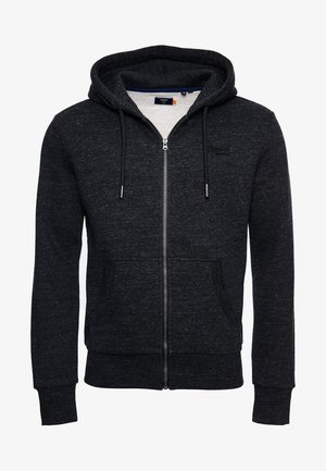 ORANGE LABEL - Hoodie met rits - black snow heather