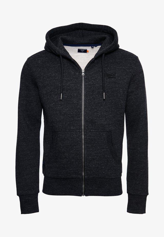 ORANGE LABEL - Zip-up hoodie - black snow heather