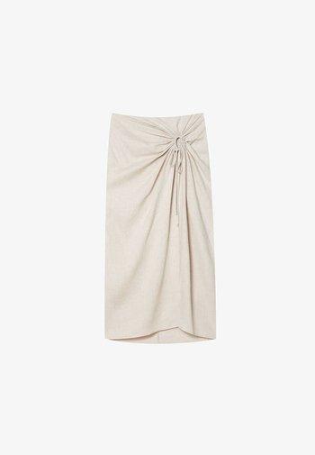 Pouzdrová sukně - beige