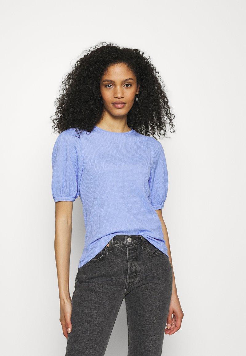 Marks & Spencer London - PUFF SLEEVE  - T-shirts basic - blue