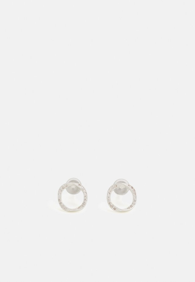 BESSIE SMALL ROUND EAR - Boucles d'oreilles - silver-coloured