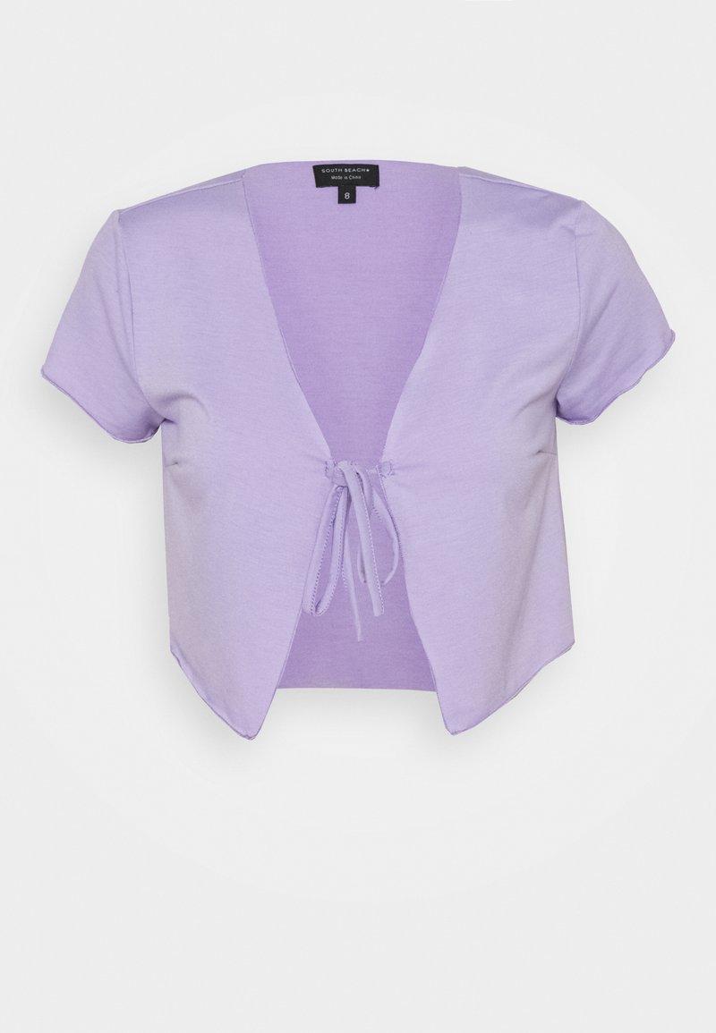 South Beach Petite - SHORT SLEEVE TIE  - Print T-shirt - lilac