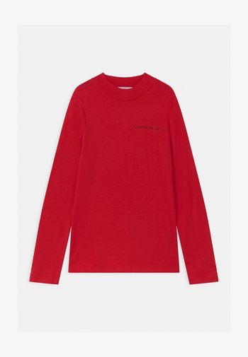 LOGO NECK  - Long sleeved top - red