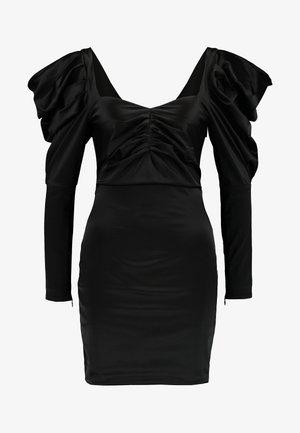 VOLUME SLEEVE MINI DRESS - Cocktail dress / Party dress - black