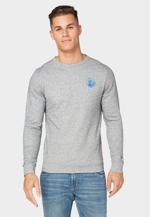 Sweatshirt - grey grindle look