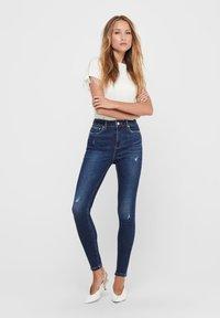 ONLY - ONLMILA - Jeans Skinny Fit - dark blue denim - 1