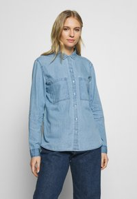 edc by Esprit - EASY BLOUSE - Camisa - blue light wash - 0
