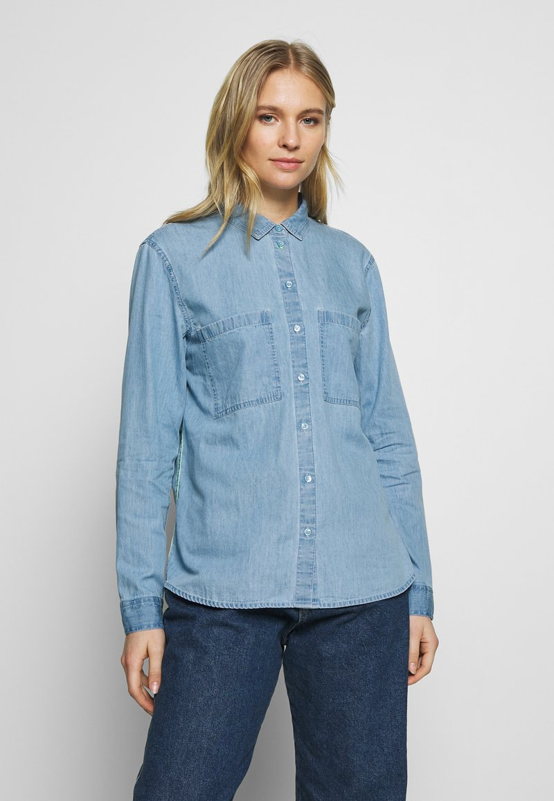 edc by Esprit - EASY BLOUSE - Camisa - blue light wash