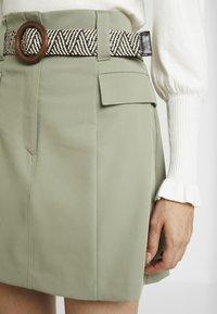 River Island - BETRIE BELTED - A-line skirt - khaki - 4