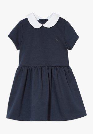 COLLAR DRESSES - Vestito di maglina - navy