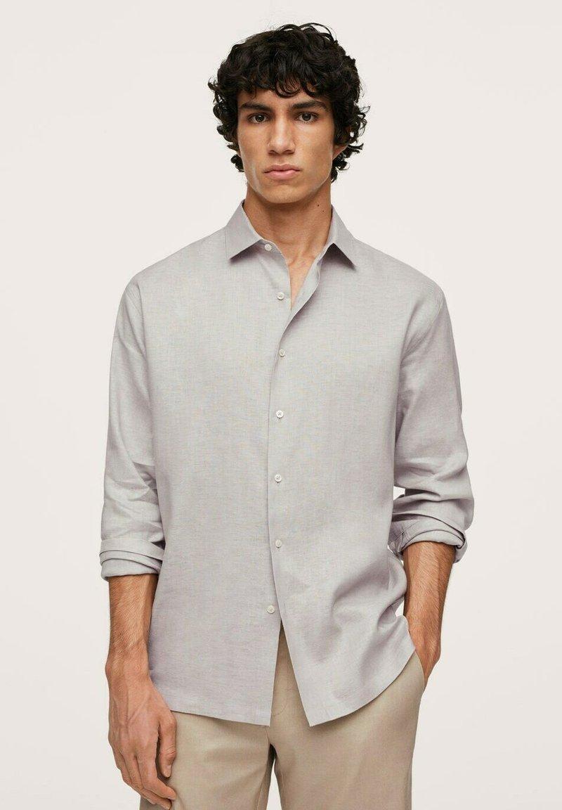 Mango - MEXICO - Shirt - gris claro/pastel