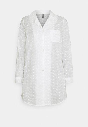 PYJAMA DRESS - Nattskjorte - off white