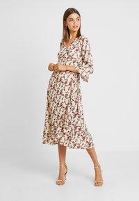 YAS - YASELLI 3/4 DRESS - Maxi dress - crème brûlée - 0