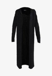 LADIES HOODED CARDIGAN - Cardigan - black