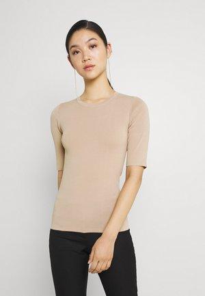 JOLIE - Jednoduché triko - dark brown