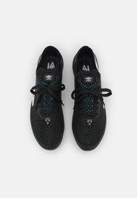 Umbro - VELOCITA VI PRO FG - Moulded stud football boots - black/white/cyan blue - 3