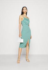 WAL G. - ASHANTI LACE MIDI DRESS - Cocktail dress / Party dress - sage green - 1