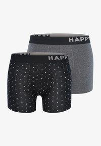Happy Shorts - 2 PACK - Pants - black&white dots - 0