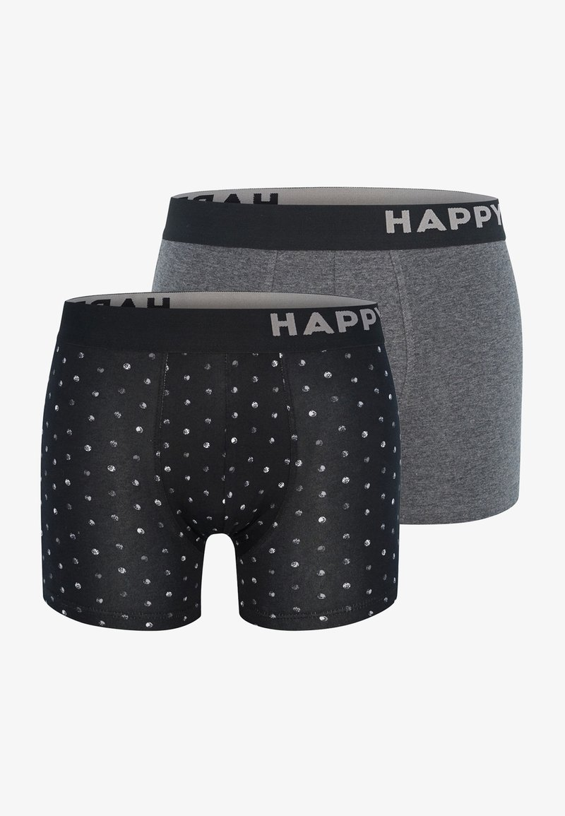 Happy Shorts - 2 PACK - Pants - black&white dots