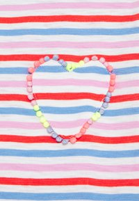 J.CREW - ISA TEE WITH HEART - Triko spotiskem - red orchid multi - 2