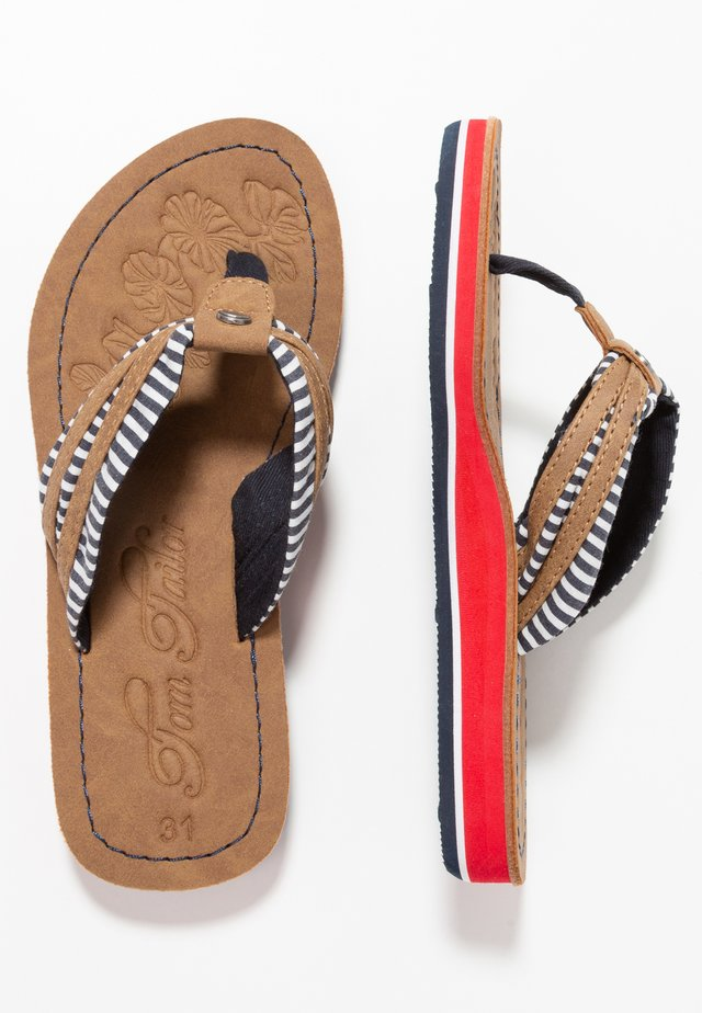 T-bar sandals - navy/red