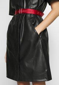 KARL LAGERFELD - SHIRT DRESS - Vestito elegante - black - 5