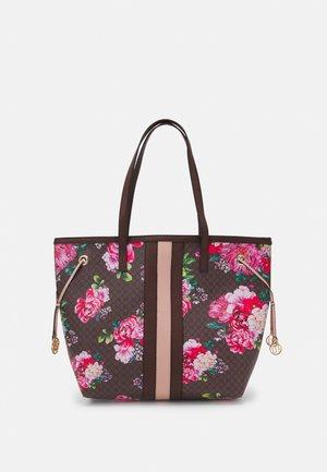 FLORAL MONOGRAM SHOPPER - Shopping bag - brown