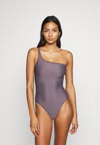 Filippa K - ASYMMETRIC SWIMSUIT - Swimsuit - mauve - 0