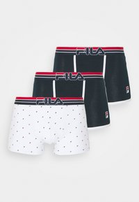 Fila - TRUNK 3 PACK - Panties - navy/white - 3