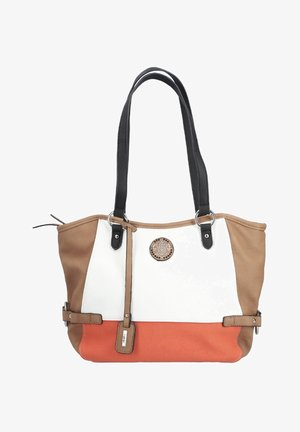 Handbag - bianco tan orange