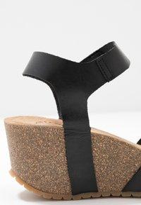 Ca'Shott - Platform sandals - black - 2