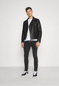 Superdry - MOTO BIKER - Leather jacket - black - 1