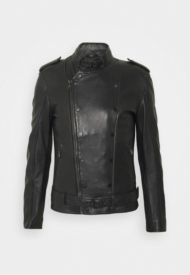 FRESH - Leather jacket - black