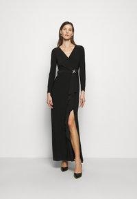 Lauren Ralph Lauren - CLASSIC LONG GOWN TRIM - Suknia balowa - black - 0