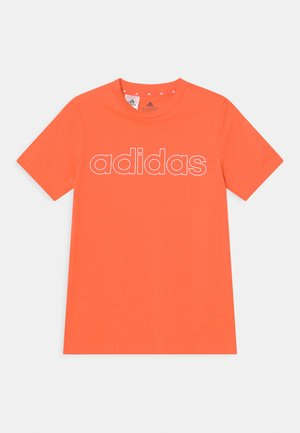 UNISEX - T-shirt med print - orange/white