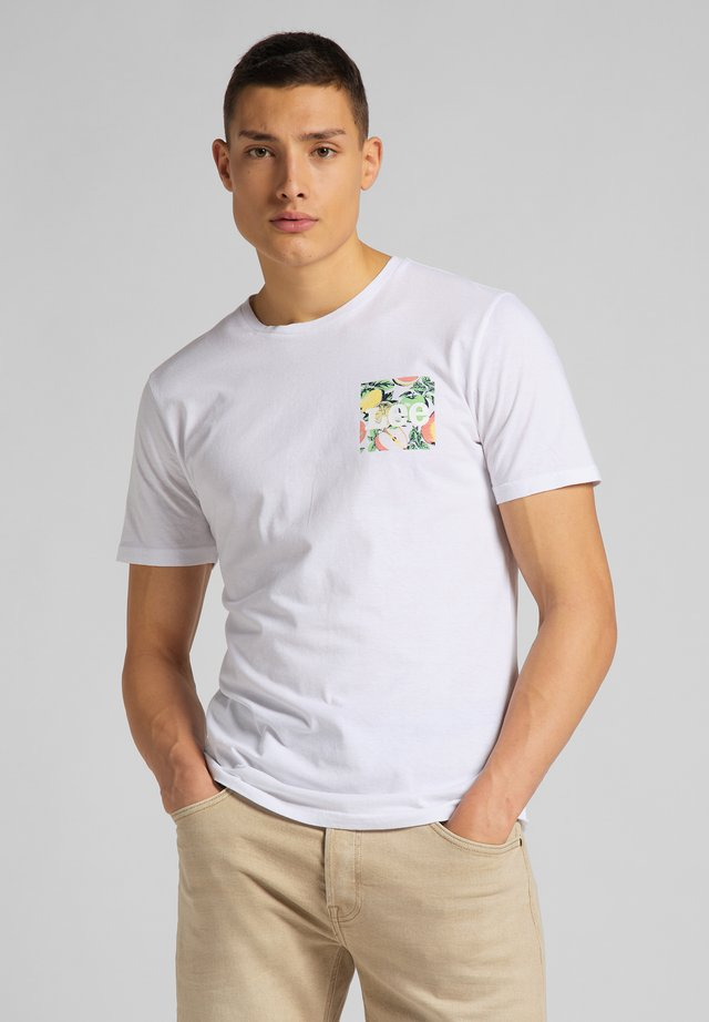 SUMMER LOGO - T-shirt z nadrukiem - white canvas