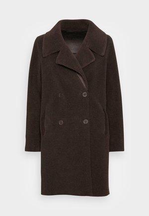 FAKE FUR - Winter coat - dark brown