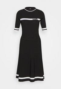 KARL LAGERFELD - DRESS LOGO - Pletené šaty - black/white - 3