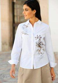 Alba Moda - Button-down blouse - weiß,beige - 3