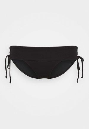 RUCHED SIDE HIPSTER - Bikinibroekje - black