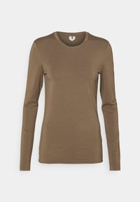 ARKET - LONGSLEEVE - Long sleeved top - taupe - 0