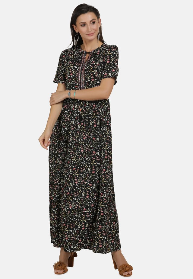 Robe longue - flower print
