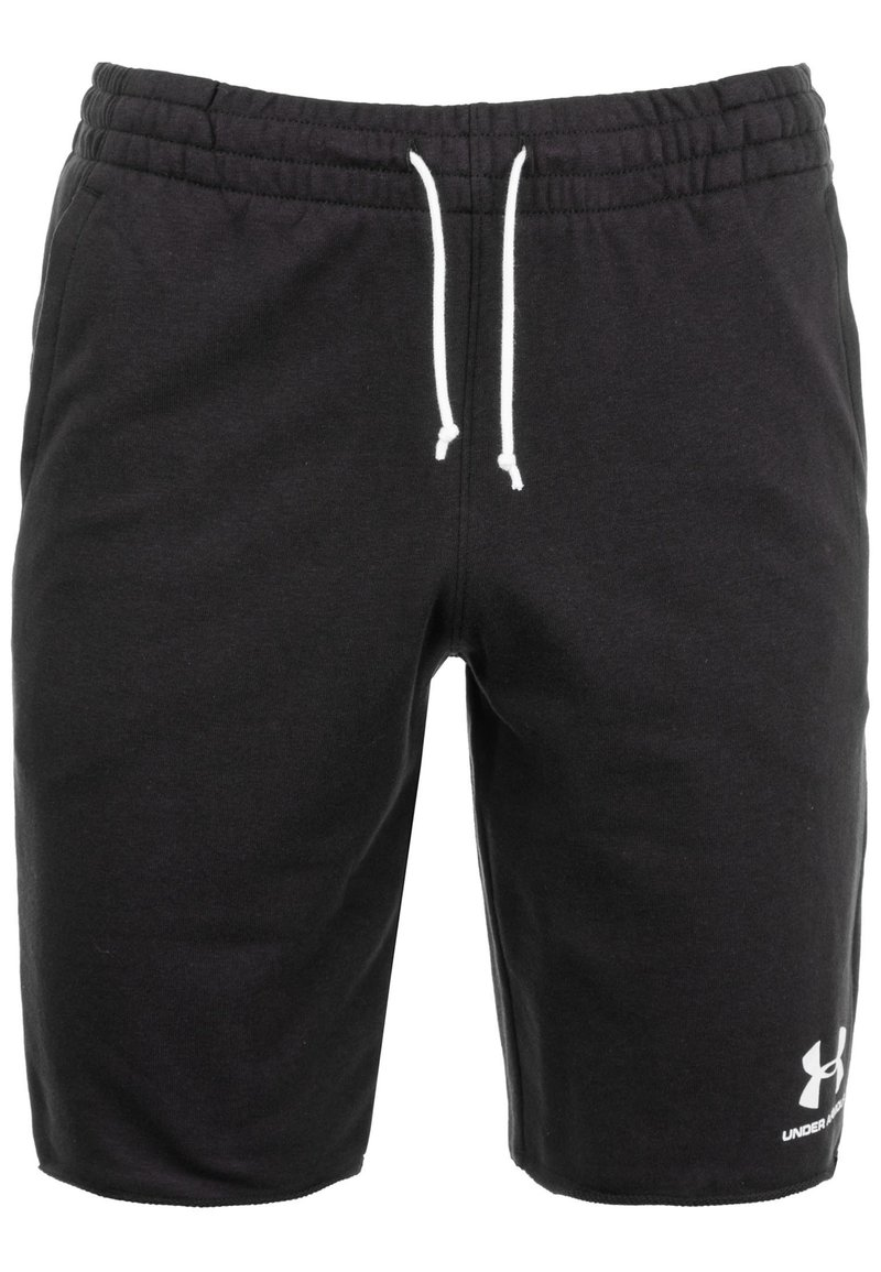 Under Armour - SPORTSTYLE TERRY  - Sports shorts - black