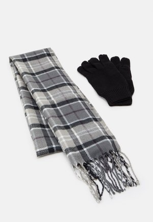 TARTAN SCARF GLOVE SET - Scarf - grey/juniper